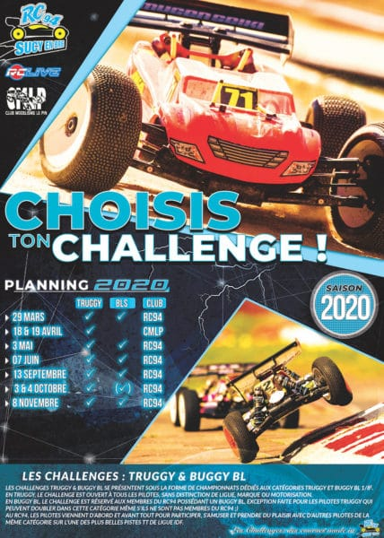 Flyer des Challenges Truggy & Buggy BL RC94 2020